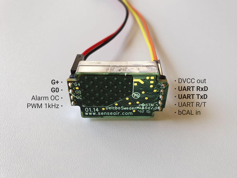 Senseair S8 pins