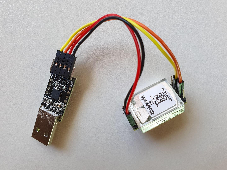 Senseair S8 with an UART adapter